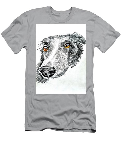 Border Collie Dog Colored Pencil Men's T-Shirt (Athletic Fit)