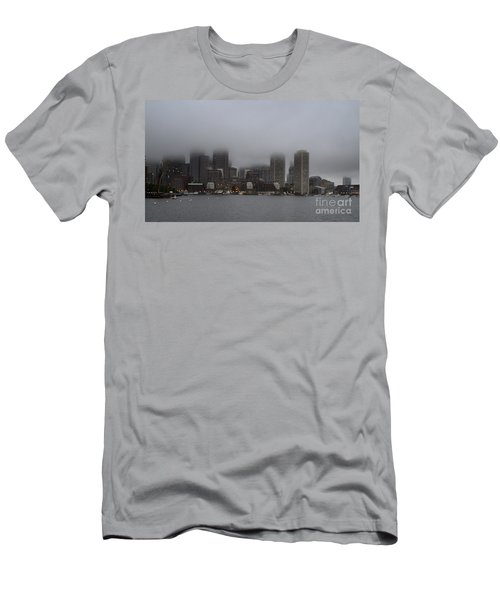 Boston In The Fog Men's T-Shirt (Athletic Fit)
