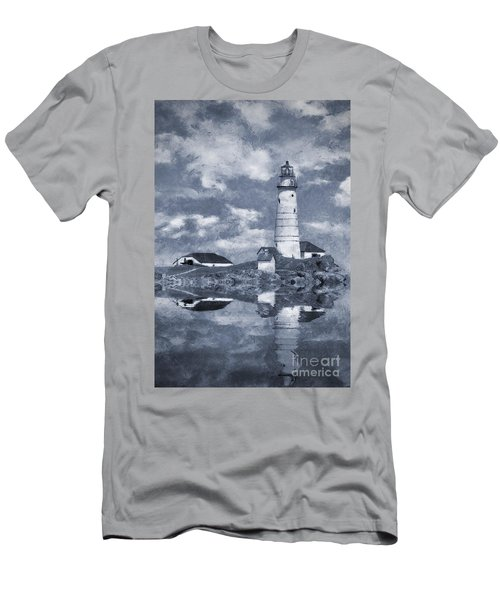 Men's T-Shirt (Slim Fit) featuring the photograph Boston Light  by Ian Mitchell