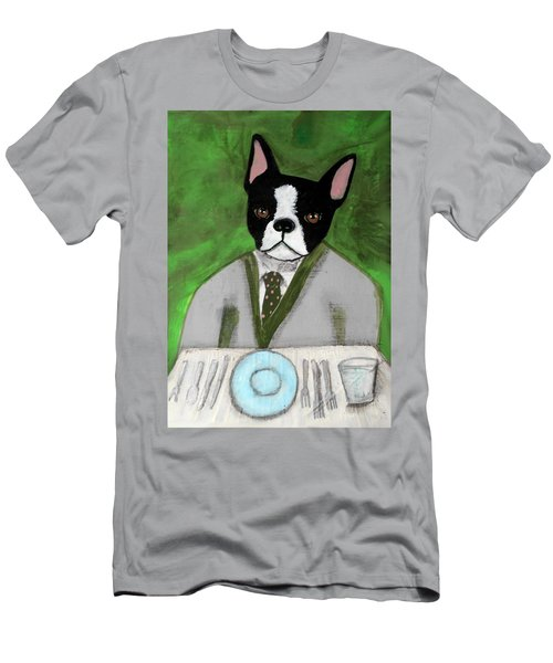 Boston Terrier At A Formal Dinner Men's T-Shirt (Athletic Fit)