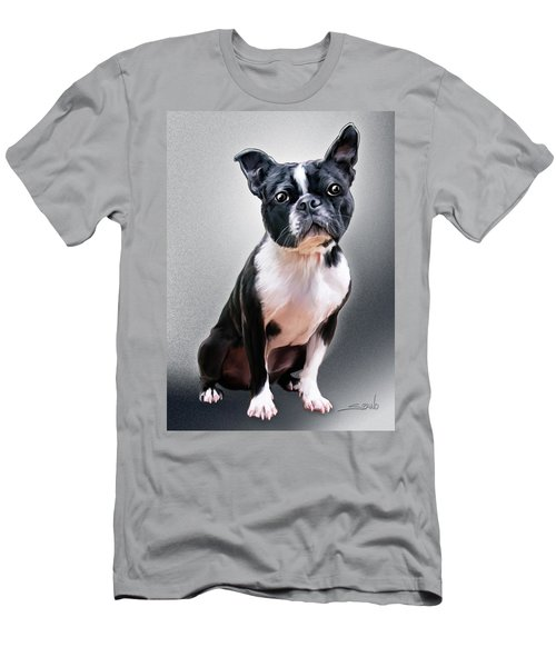 Boston Terrier By Spano Men's T-Shirt (Slim Fit) by Michael Spano