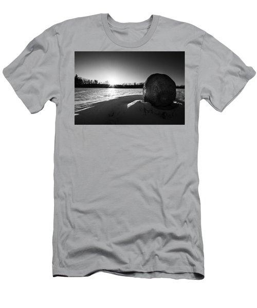 Boulder At Sunset Men's T-Shirt (Athletic Fit)