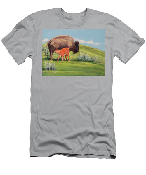 Bouncing Baby Bison Men's T-Shirt (Athletic Fit)