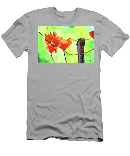 Men's T-Shirt (Slim Fit) featuring the painting Bound Yet Free by Anil Nene