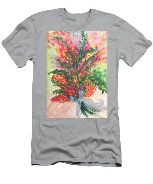 Bouquet And Ribbon Men's T-Shirt (Athletic Fit)
