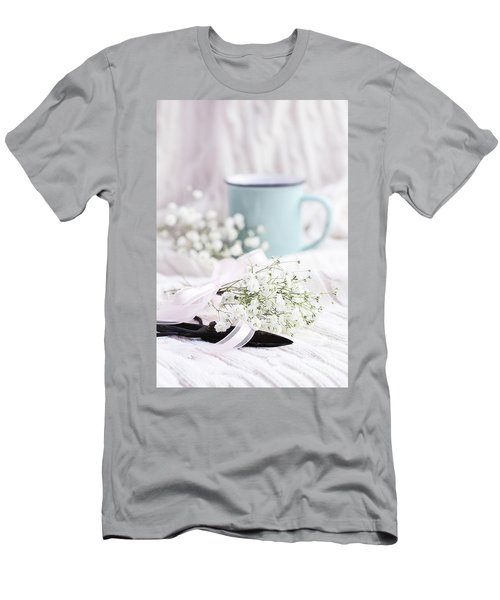 Bouquet Of Baby's Breath Men's T-Shirt (Slim Fit) by Stephanie Frey