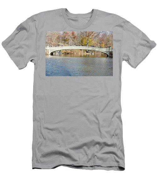 Men's T-Shirt (Slim Fit) featuring the photograph Bow Bridge With Wedding by Steven Richman
