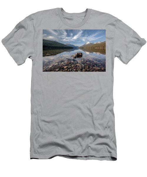 Bowman Lake Rocks Men's T-Shirt (Athletic Fit)