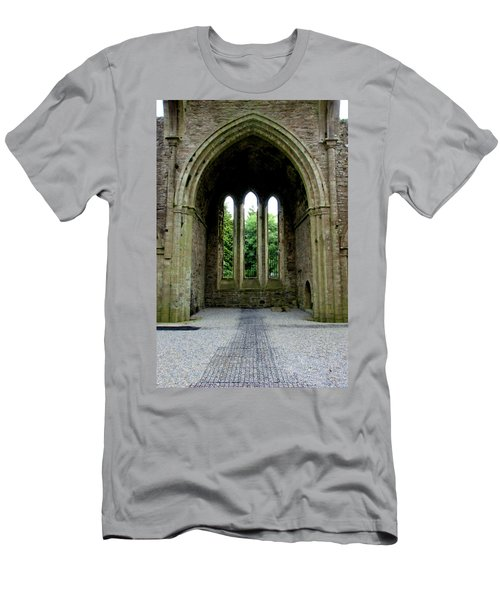 Men's T-Shirt (Slim Fit) featuring the photograph Boyle Abbey In Ireland 2 by Michelle Joseph-Long
