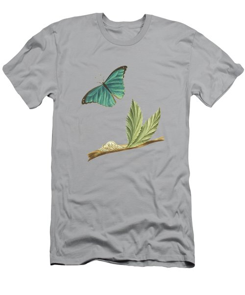 Branch Of A Medlar Tree With Caterpillar And Butterfly By Cornelis Markee 1763 Men's T-Shirt (Athletic Fit)