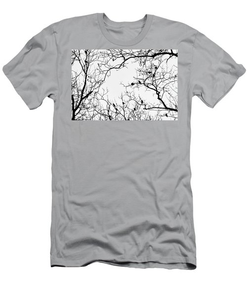Branches And Birds Men's T-Shirt (Athletic Fit)
