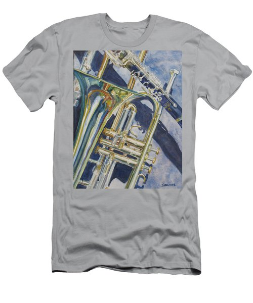 Brass Winds And Shadow Men's T-Shirt (Athletic Fit)
