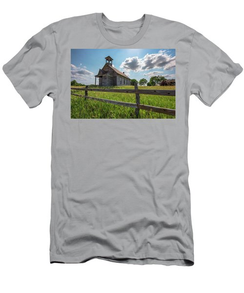 Men's T-Shirt (Athletic Fit) featuring the photograph Bremen Schoolhouse by Darren White