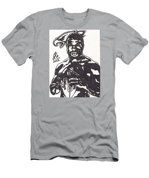 Men's T-Shirt (Slim Fit) featuring the drawing Brian Westbrook by Jeremiah Colley