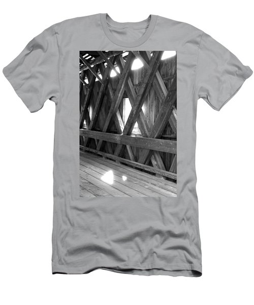 Men's T-Shirt (Slim Fit) featuring the photograph Bridge Glow by Greg Fortier