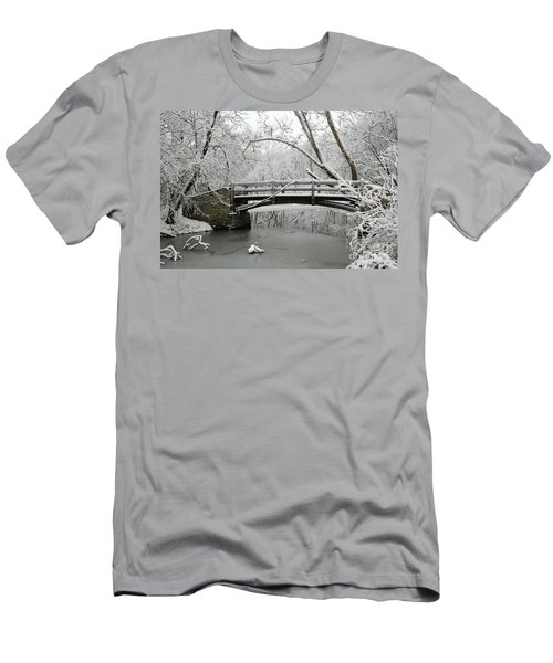 Bridge In Winter Men's T-Shirt (Athletic Fit)