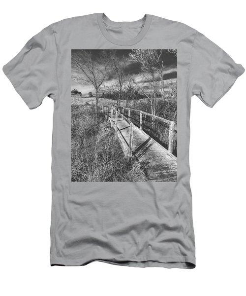 Bridge On The Prairie Men's T-Shirt (Athletic Fit)