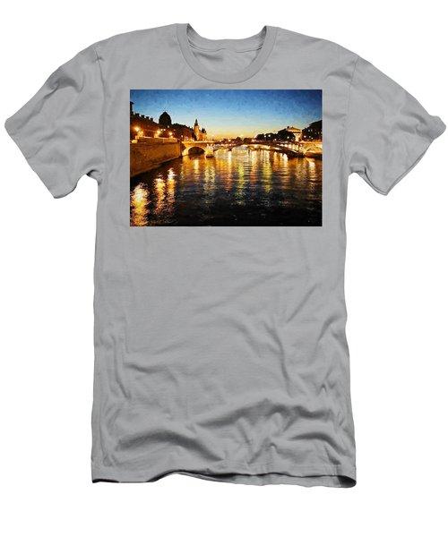 Bridge Over The Seine Men's T-Shirt (Athletic Fit)