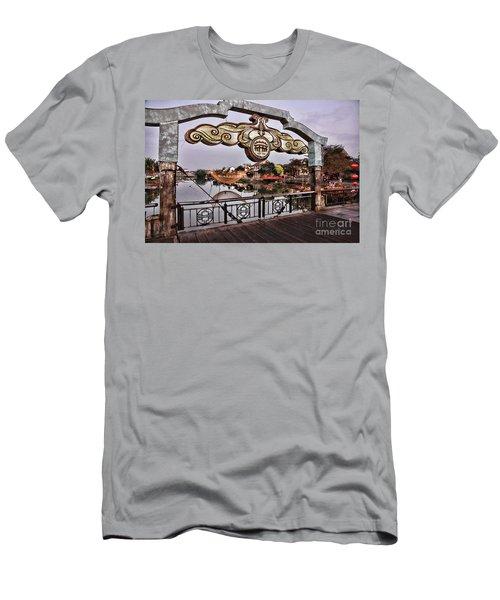 Bridge Sign Color Hoi An Men's T-Shirt (Athletic Fit)