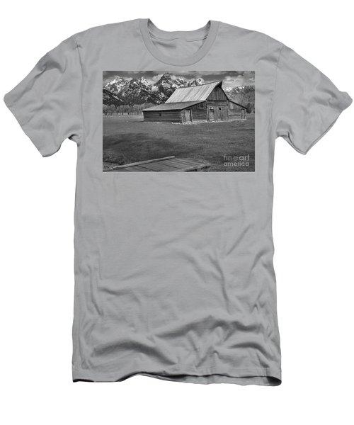 Bridge To The Barn Black And White Men's T-Shirt (Slim Fit) by Adam Jewell