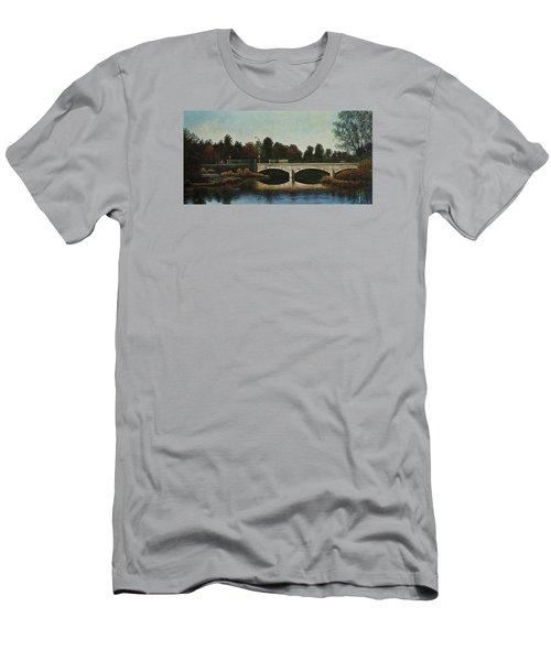 Bridges Of Forest Park Iv Men's T-Shirt (Slim Fit) by Michael Frank