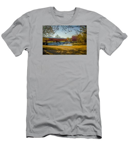 Bridgeton Mill Covered Bridge Men's T-Shirt (Athletic Fit)