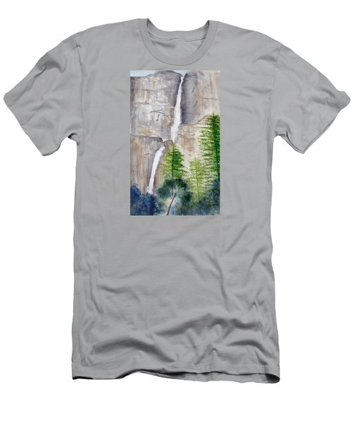 Bridal Veil Waterfall Men's T-Shirt (Athletic Fit)