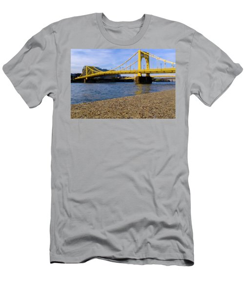 Bright Yellow Bridge In Downtown Pittsburgh Pennsylvania Men's T-Shirt (Athletic Fit)