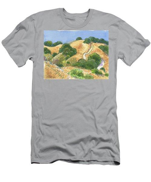 Briones Crest Trail In June Men's T-Shirt (Athletic Fit)
