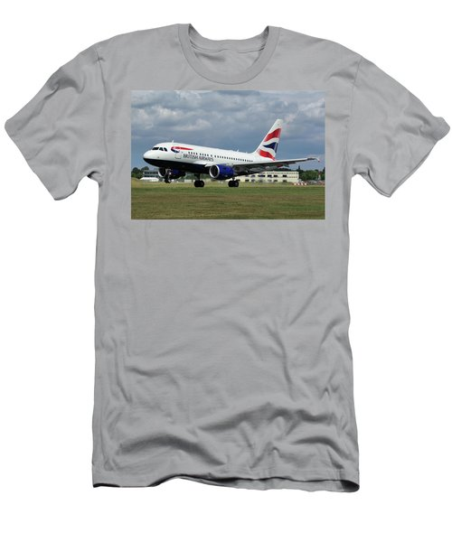 British Airways A318-112 G-eunb Men's T-Shirt (Slim Fit) by Tim Beach