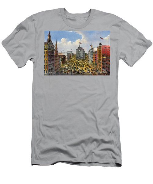 Broadway New York City 1875 Men's T-Shirt (Slim Fit) by Padre Art