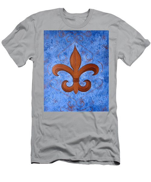 Bronze Fleur De Lis Men's T-Shirt (Athletic Fit)