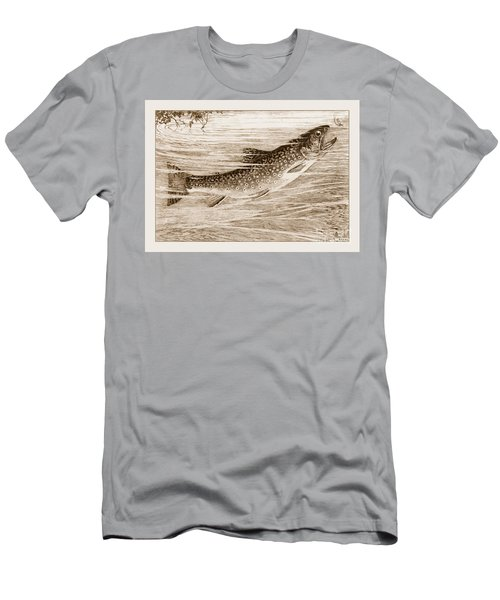 Brook Trout Going After A Fly Men's T-Shirt (Slim Fit) by John Stephens
