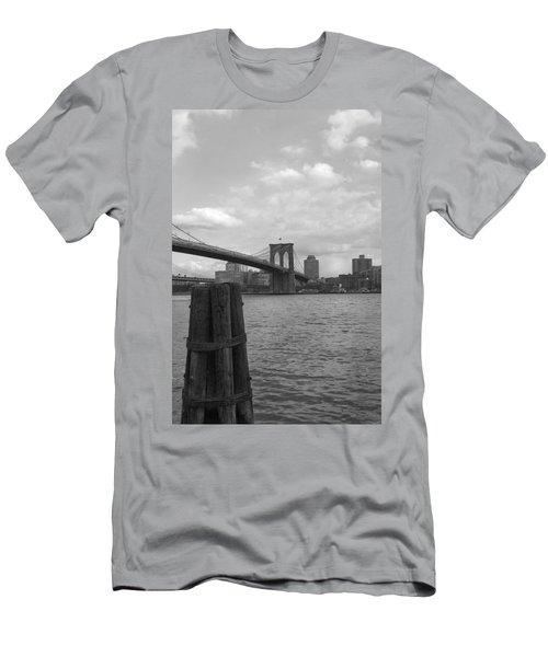 Brooklyn Bridge  Men's T-Shirt (Slim Fit) by Henri Irizarri