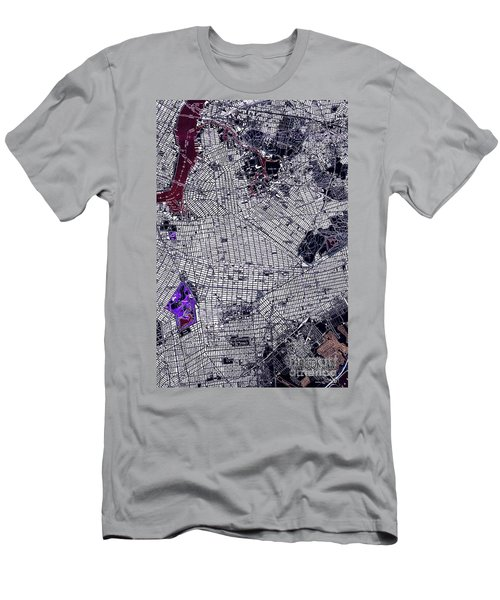 Brooklyn New York 1947 Old Map Men's T-Shirt (Athletic Fit)