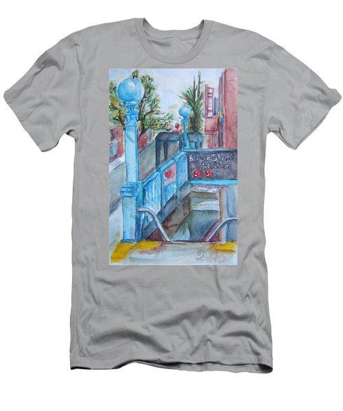 Brooklyn Subway Stop Men's T-Shirt (Athletic Fit)