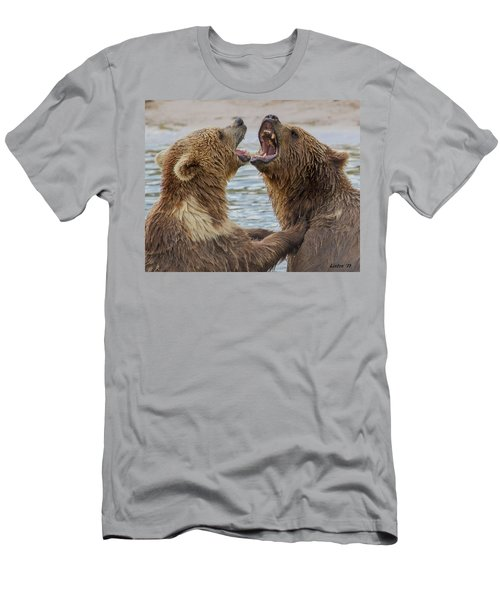 Men's T-Shirt (Athletic Fit) featuring the photograph Brown Bears4 by Larry Linton