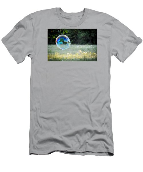 Men's T-Shirt (Slim Fit) featuring the photograph Bubble by Cheryl McClure