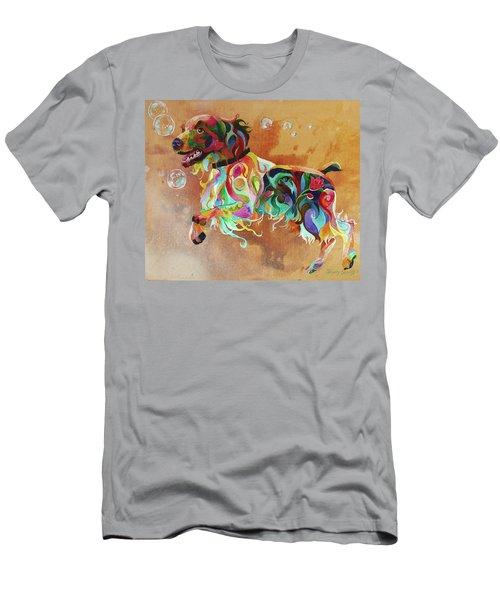 Bubbles  English Springer Men's T-Shirt (Athletic Fit)