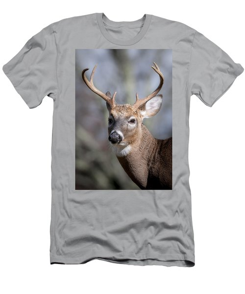 Men's T-Shirt (Slim Fit) featuring the photograph Buck Headshot by Tyson and Kathy Smith