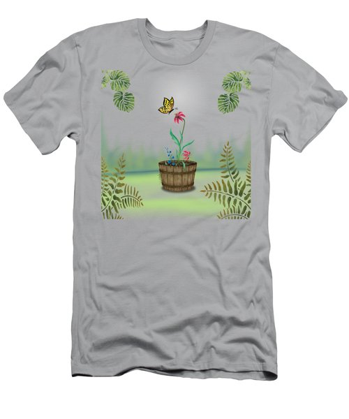 Bucket Butterfly 1 Men's T-Shirt (Athletic Fit)