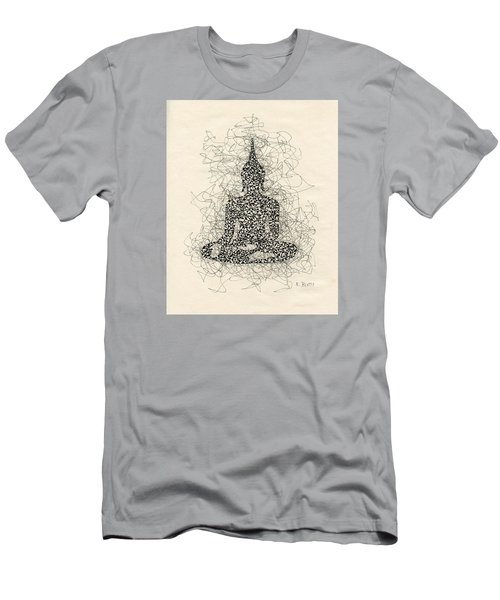 Buddha Pen And Ink Drawing Men's T-Shirt (Athletic Fit)
