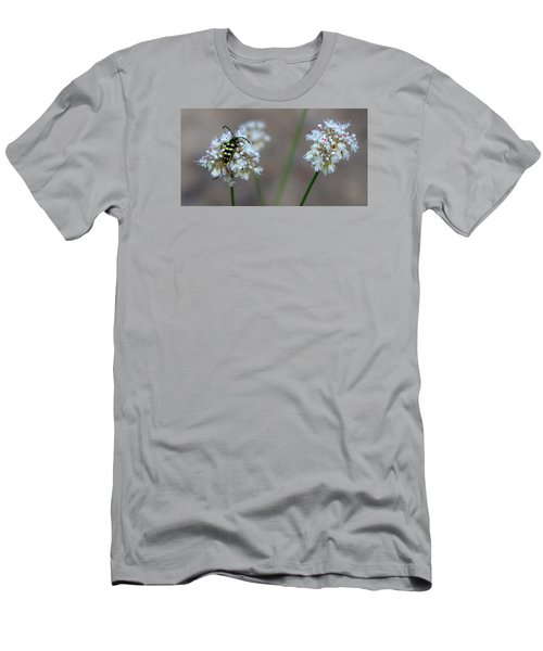 Bug On Flower Men's T-Shirt (Athletic Fit)