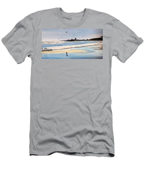 Bull Beach Men's T-Shirt (Slim Fit) by Marilyn McNish