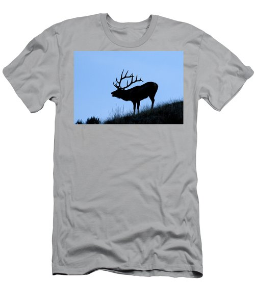 Bull Elk Silhouette Men's T-Shirt (Athletic Fit)