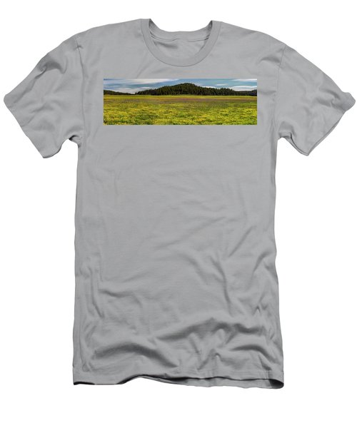 Men's T-Shirt (Slim Fit) featuring the photograph Bull Prairie by Leland D Howard