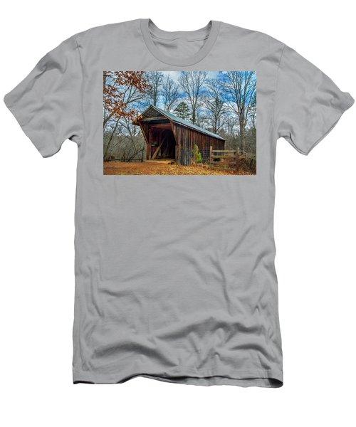 Bunker Hill Cvered Bridge Men's T-Shirt (Athletic Fit)