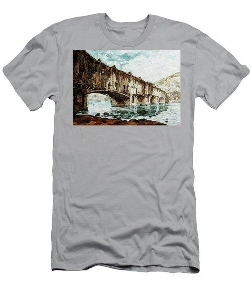 Burnt Covered Bridge Men's T-Shirt (Athletic Fit)