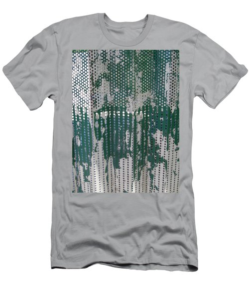 Men's T-Shirt (Athletic Fit) featuring the photograph Bus Stop Art by Esther Newman-Cohen