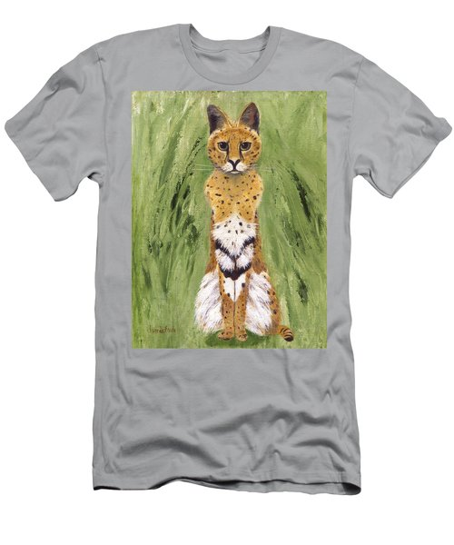 Men's T-Shirt (Athletic Fit) featuring the painting Bush Cat by Jamie Frier